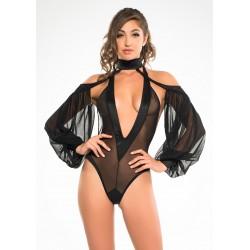 Heavenly Body Drop Sleeve Black Bodysuit Fetish Fashions  Fetish Wear | Fetishwear in Leather Latex, Rubber, Bondage Clothing and Sky High Heels