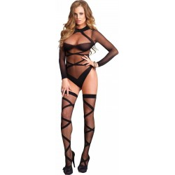 Cross Strap Teddy and Stockings Set Fetish Fashions  Fetish Wear | Fetishwear in Leather Latex, Rubber, Bondage Clothing and Sky High Heels