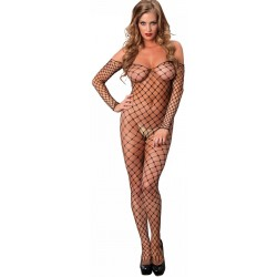 Fence Net Off the Shoulder Bodystocking Fetish Fashions  Fetish Wear | Fetishwear in Leather Latex, Rubber, Bondage Clothing and Sky High Heels
