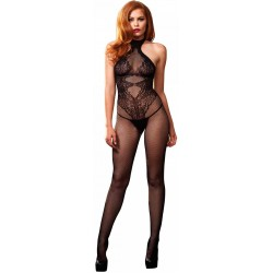 Floral Lace Hourglass Black Bodystocking Fetish Fashions  Fetish Wear | Fetishwear in Leather Latex, Rubber, Bondage Clothing and Sky High Heels