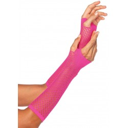 Neon Pink Triangle Net Fingerless Gloves Fetish Fashions  Fetish Wear | Fetishwear in Leather Latex, Rubber, Bondage Clothing and Sky High Heels