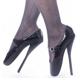 Ballet Extreme Black Mary Jane Shoe Fetish Fashions  Fetish Wear   Fetishwear in Leather Latex, Rubber, Bondage Clothing and Sky High Heels