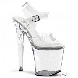 Clear Xtreme 8 Inch High Platform Sandal Fetish Fashions  Fetish Wear | Fetishwear in Leather Latex, Rubber, Bondage Clothing and Sky High Heels