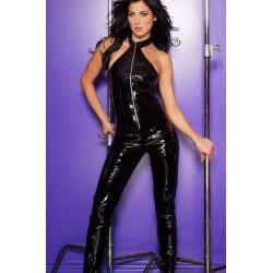 Black Vinyl Halter Neck Catsuit Fetish Fashions  Fetish Wear | Fetishwear in Leather Latex, Rubber, Bondage Clothing and Sky High Heels