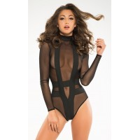 Skye Seductive Cheeky Black Bodysuit