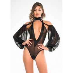 Heavenly Body Drop Sleeve Black Bodysuit Fetish Fashions  Fetish Wear | Fetishwear in Leather Latex, Rubber, Bondage Clothing and Sky High Heels