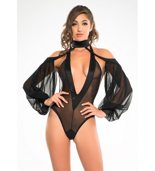 Heavenly Body Drop Sleeve Black Bodysuit at Fetish Fashions,  Fetish Wear | Fetishwear in Leather Latex, Rubber, Bondage Clothing and Sky High Heels
