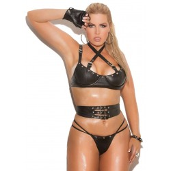 Leather 3 Piece Fetish Bra Set Fetish Fashions  Fetish Wear | Fetishwear in Leather Latex, Rubber, Bondage Clothing and Sky High Heels
