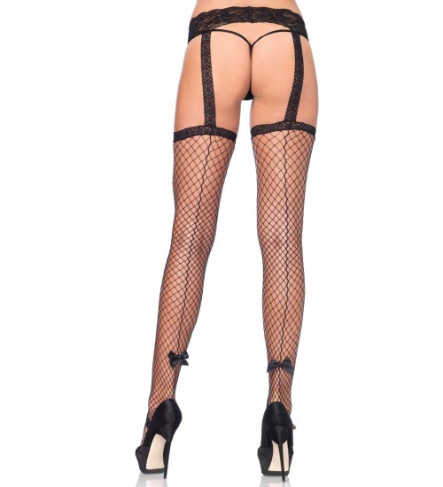 Backseam Industrial Net Suspender Stockings  - Pack of 3 at Fetish Fashions,  Fetish Wear | Fetishwear in Leather Latex, Rubber, Bondage Clothing and Sky High Heels