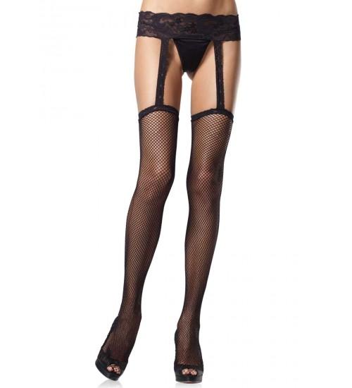 Black Fishnet Suspender Stockings  - Pack of 3 at Fetish Fashions,  Fetish Wear | Fetishwear in Leather Latex, Rubber, Bondage Clothing and Sky High Heels