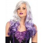 Allure Gray Wig with Purple Tips