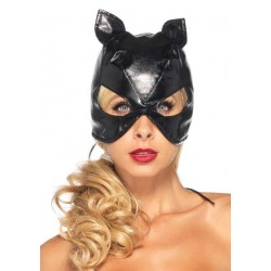 Black Faux Leather Cat Mask Fetish Fashions  Fetish Wear | Fetishwear in Leather Latex, Rubber, Bondage Clothing and Sky High Heels