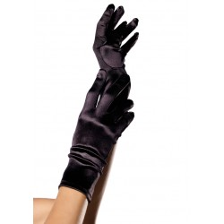 Black Wrist Length Satin Gloves Fetish Fashions  Fetish Wear | Fetishwear in Leather Latex, Rubber, Bondage Clothing and Sky High Heels