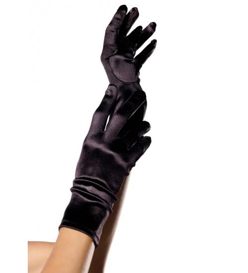 Black Wrist Length Satin Gloves at Fetish Fashions,  Fetish Wear | Fetishwear in Leather Latex, Rubber, Bondage Clothing and Sky High Heels