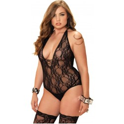 Floral Lace Plus Size Teddy and Stocking Set Fetish Fashions  Fetish Wear | Fetishwear in Leather Latex, Rubber, Bondage Clothing and Sky High Heels