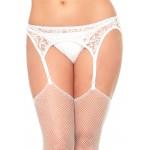 White Lace Garterbelt and Thong Set