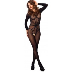 Opaque Illusion Black Bodystocking Fetish Fashions  Fetish Wear | Fetishwear in Leather Latex, Rubber, Bondage Clothing and Sky High Heels