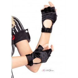 Fingerless Black Motorcycle Gloves Fetish Fashions  Fetish Wear | Fetishwear in Leather Latex, Rubber, Bondage Clothing and Sky High Heels