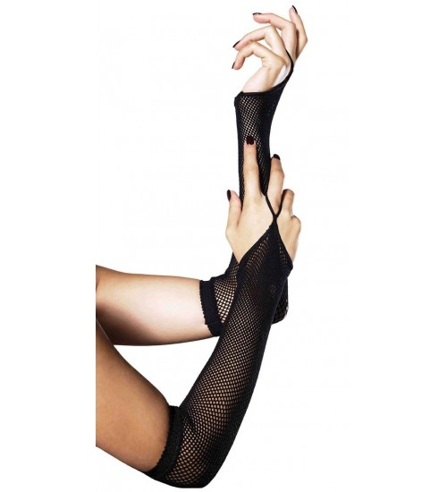 Black Fishnet Arm Warmers at Fetish Fashions,  Fetish Wear | Fetishwear in Leather Latex, Rubber, Bondage Clothing and Sky High Heels
