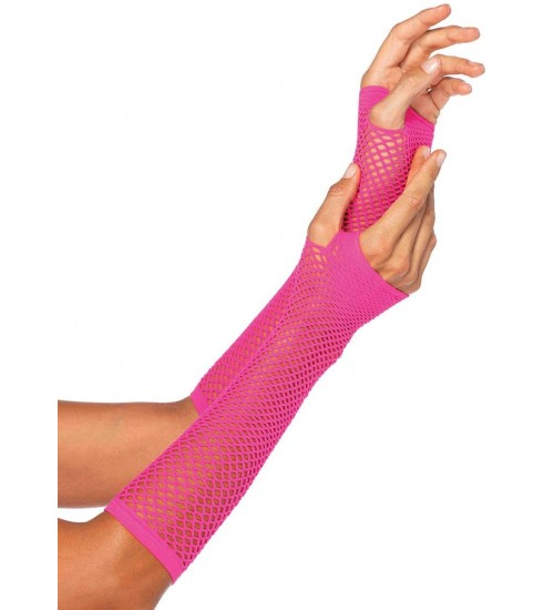 Neon Pink Triangle Net Fingerless Gloves at Fetish Fashions,  Fetish Wear | Fetishwear in Leather Latex, Rubber, Bondage Clothing and Sky High Heels