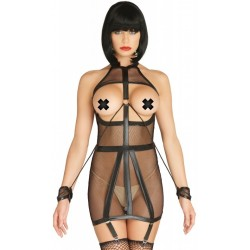 Fishnet Bondage Strap Garter Dress