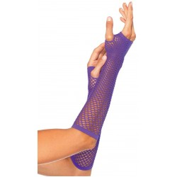 Neon Purple Triangle Net Fingerless Gloves Fetish Fashions  Fetish Wear | Fetishwear in Leather Latex, Rubber, Bondage Clothing and Sky High Heels