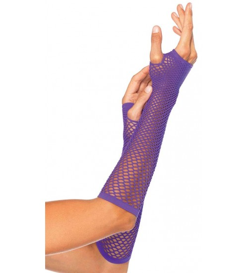 Neon Purple Triangle Net Fingerless Gloves at Fetish Fashions,  Fetish Wear | Fetishwear in Leather Latex, Rubber, Bondage Clothing and Sky High Heels