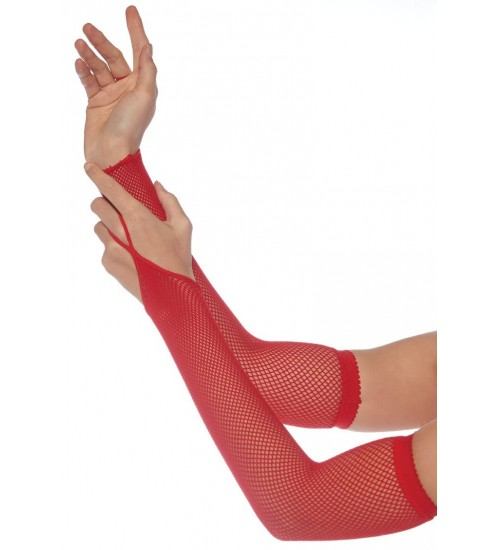 Red Fishnet Arm Warmers at Fetish Fashions,  Fetish Wear | Fetishwear in Leather Latex, Rubber, Bondage Clothing and Sky High Heels