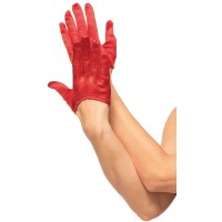 Cropped Satin Red Half Glove