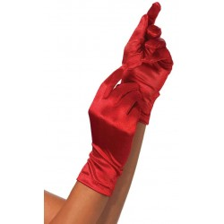 Red Wrist Length Satin Gloves Fetish Fashions  Fetish Wear | Fetishwear in Leather Latex, Rubber, Bondage Clothing and Sky High Heels