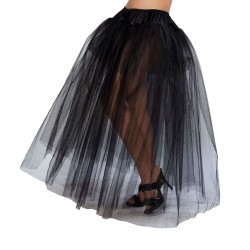 Black Full Length Tulle Skirt Fetish Fashions  Fetish Wear | Fetishwear in Leather Latex, Rubber, Bondage Clothing and Sky High Heels