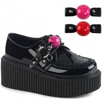 Ball Gag Black Vegan Womens Creeper