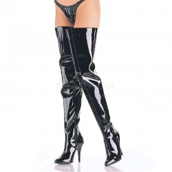 Seduce Black Patent Crotch Boots Fetish Fashions  Fetish Wear   Fetishwear in Leather Latex, Rubber, Bondage Clothing and Sky High Heels