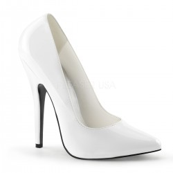 Classic White 6 Inch High Heel Pump Fetish Fashions  Fetish Wear | Fetishwear in Leather Latex, Rubber, Bondage Clothing and Sky High Heels