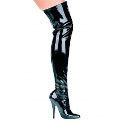 Ally Black Patent Thigh High 5 Inch Heel Boot Fetish Fashions  Fetish Wear | Fetishwear in Leather Latex, Rubber, Bondage Clothing and Sky High Heels