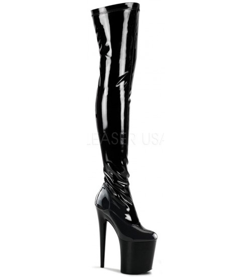 Flamingo 8 Inch Heel Thigh High Platform Boot at Fetish Fashions,  Fetish Wear | Leather, Bondage, Latex, Rubber, Sky High Heels