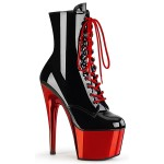 Red Platform Adore Black Granny Ankle Boot