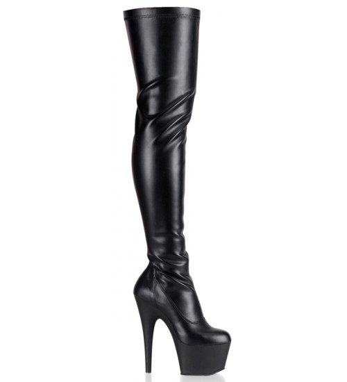 Adore Black Matte Thigh High Platform Boot at Fetish Fashions,  Fetish Wear | Fetishwear in Leather Latex, Rubber, Bondage Clothing and Sky High Heels