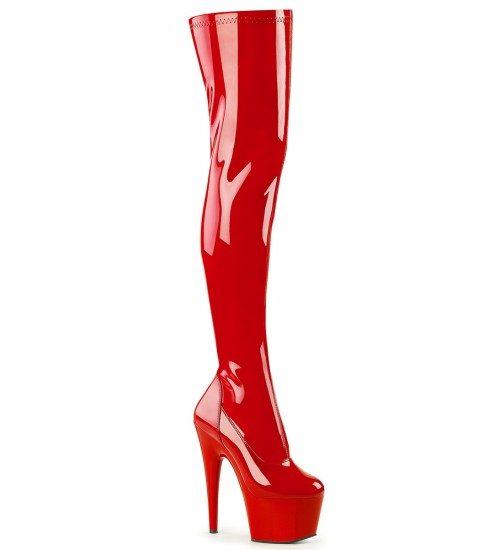 Adore Red Thigh High Platform Boot at Fetish Fashions,  Fetish Wear | Fetishwear in Leather Latex, Rubber, Bondage Clothing and Sky High Heels