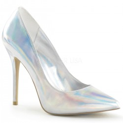 Amuse Silver Hologram 5 Inch High Heel Pump Fetish Fashions  Fetish Wear | Fetishwear in Leather Latex, Rubber, Bondage Clothing and Sky High Heels