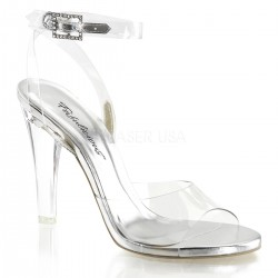 Clearly Beautiful Ankle Strap Sandal