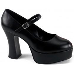 Black Mary Jane Square Heeled Pump Fetish Fashions  Fetish Wear | Fetishwear in Leather Latex, Rubber, Bondage Clothing and Sky High Heels