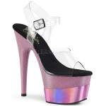 Pink Platform Adore Sandal with 7 Inch Heel